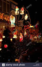 the top illuminated decorations for charity outside a
