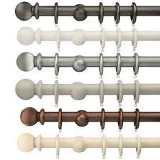 Cream Wooden Curtain Poles Bronze Curtain Pole Ebay