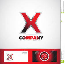 letter x red logo metal games stock vector image 56520015