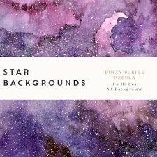 watercolour star nebula background digital paper dusty