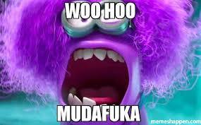 Woohoo Meme - woo hoo mudafuka meme purple minion 31487 memeshappen