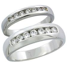 wedding ring sets his and hers white gold 5 carat wedding ring set tags 2 wedding rings trio wedding