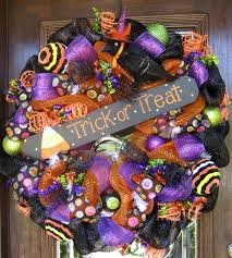Halloween Wreath Deco Mesh Halloween Wreath Ideas