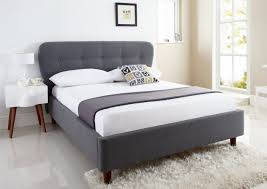 light grey upholstered bed bedroom headboard jensen upholstered low profile tufted king