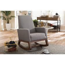 baxton studio yashiya mid century retro modern rocking chair