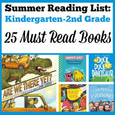 2nd grade books to read summer reading list k 2 working outside the box