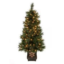 shop living 4 ft pre lit pine artificial