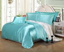 Luxury White Bedding Sets Luxury Silk Light Blue And White Bedding Set Modern Doona Cover