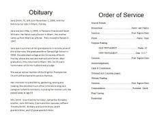 how to make funeral programs how to write a funeral program obituary template sle