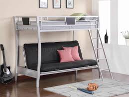 bedroom perfect twin over black futon metal bunk bed with stair