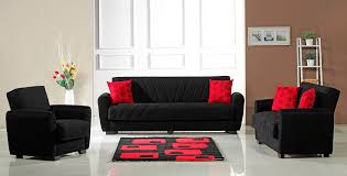 fabric living room sets furniplanet com buy black red perfect contemporary living room