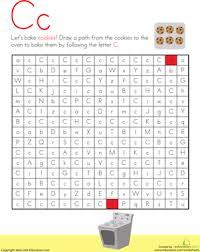 letter maze c worksheet education com