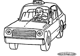 taxi 36 transportation u2013 printable coloring pages