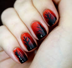 red and black nails design 15 jpg 500 472 pixels my style