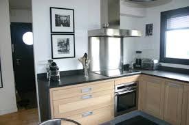 deco mur de cuisine deco noir et bois awesome deco cuisine noir et blanc cool idee deco