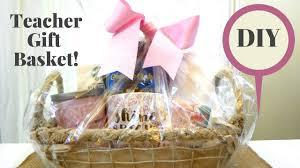 Teacher Gift Basket Diy Teacher Gift Basket To Say Thank You Youtube