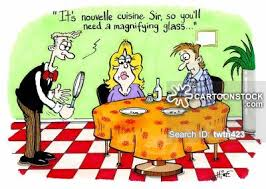 restaurant nouvelle cuisine nouvelle cuisine and pictures from cartoonstock
