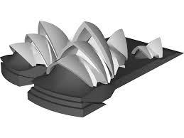 opera house sydney 3d model 3d cad browser
