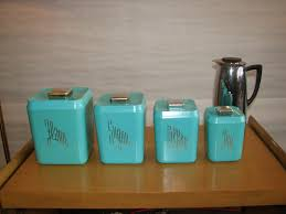 Canister Kitchen Flour And Sugar Canisters Kitchen Turquoise Canister Sets With