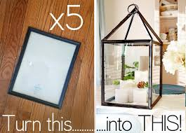 Diy Lantern Lights Grosgrain Diy Hurricane Lanterns Out Of Dollar Store Frames