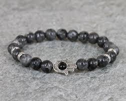 silver energy bracelet images 1pc 8mm adjustable energy stone beads hamsa bracelet silver palm jpg