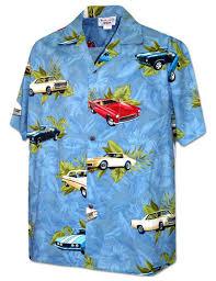 cool wheels muscle cars hawaiian shirt shaka time hawaii clothing