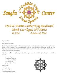 Opening Ceremony Invitation Card Design Grand Opening Of Our Center Las Vegas Buddhist Sangha