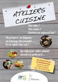 affiche atelier cuisine accueil