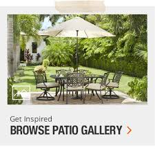 Patio Furniture Set With Umbrella Patio Furniture The Home Depot