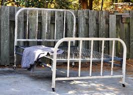 unique old metal bed frame how to refinish old metal bed frame