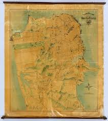 san francisco map painting chevalier map of san francisco chevalier august 1911