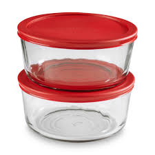 Red Kitchen Canisters by Anchor Hocking 2 Pack 7 Cup Glass Storage Container U0026 Lid