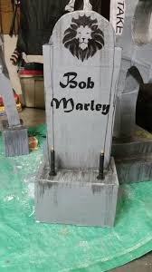 home made tombstones cardboard frame paper mache left over