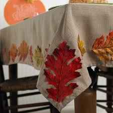 diy leaf tablecloth for thanksgiving and fall decorating cathie
