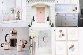 Just Home Decor Fancy Finds Blush Copper And Marble Home Decor Within The Grove