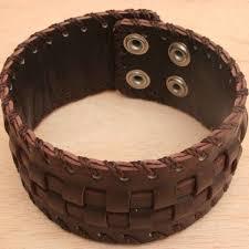 braided leather cuff bracelet images Brown leather bracelet for men JPG