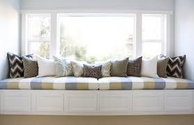 built in window seat blind curtains cozy sweet built in window seats designs