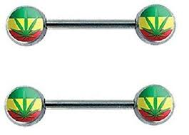 double nipple rings images Nipple ring double rasta bar body jewelry sold as pair jpg
