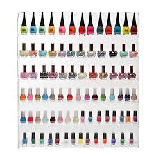 102 bottles 6 shelf pro clear acrylic nail polish rack import