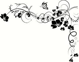 vine flower butterfly and flower vine tattoos