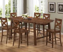 Pc Counter Height Dining Room Table Set And Bar Stools Of With - Dining room tables counter height