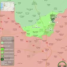 Syria World Map by Terrorists U0027 Advances In Northerh Hama Syria