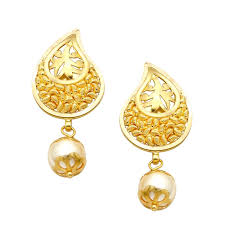 earrings gold design chandukaka saraf sons pvt ltd
