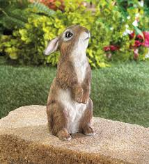 Bunny Rabbit Home Decor Standing Bunny Rabbit Statue Figurine Outdoor Garden Yard Home