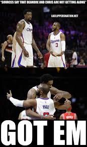 Funny Basketball Meme - deandre jordan and chris paul got em clippers http nbameme