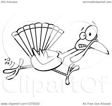 clipart of a black and white scared thanksgiving turkey bird