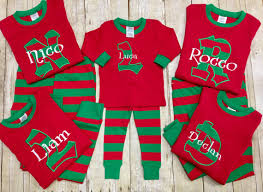 personalized christmas for kids personalized christmas pajamas kids christmas pj s
