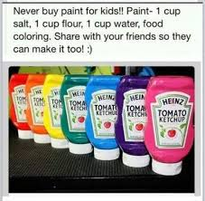 easy homemade non toxic paint for kids projects pinterest