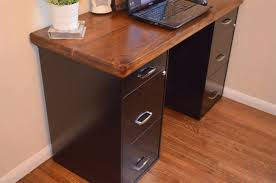 Diy File Cabinet Desk Awesome Desk File Cabinet Diy Projects Bob Vila Best 25 Ideas On