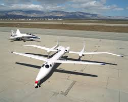 scaled composites u0027 proteus aircraft and an f a 18 hornet from